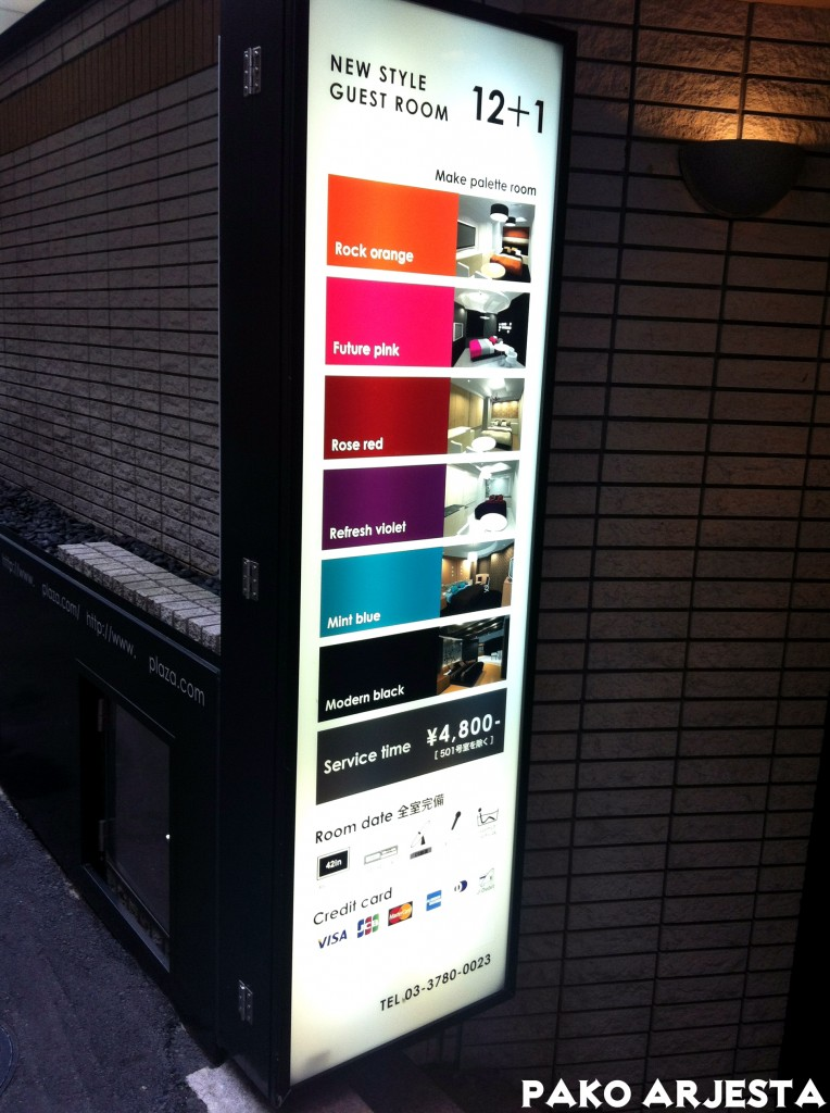 Love Hotel Hill, Shibuya - Hinnasto