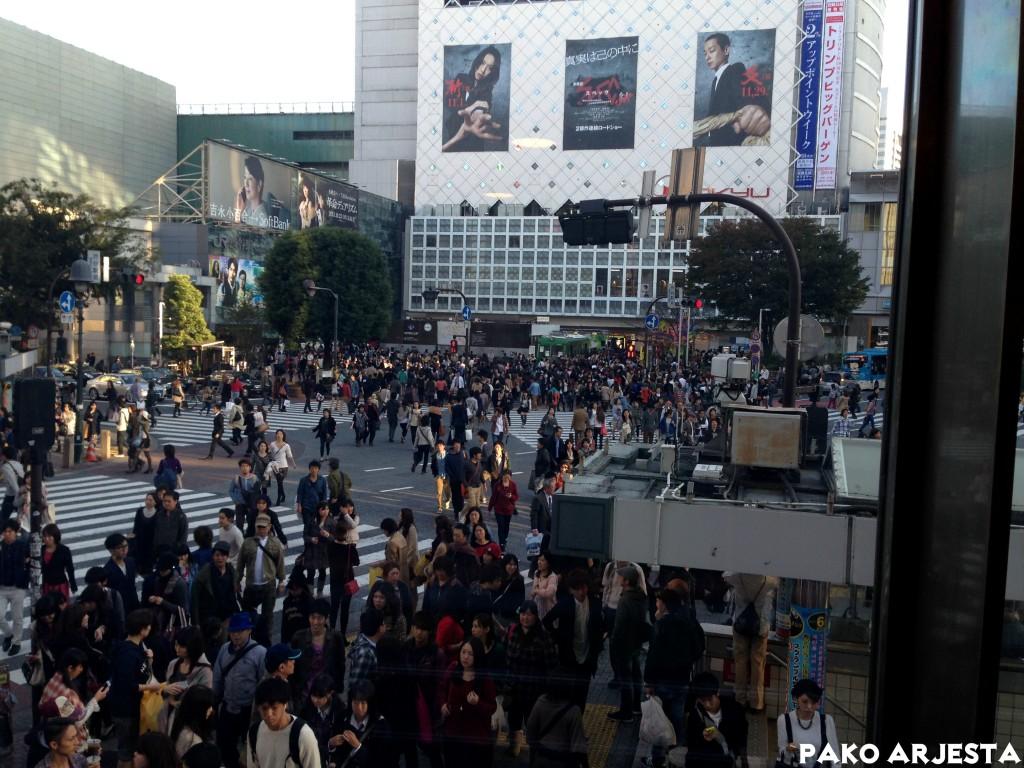Shibuyan risteys arkipäivänä