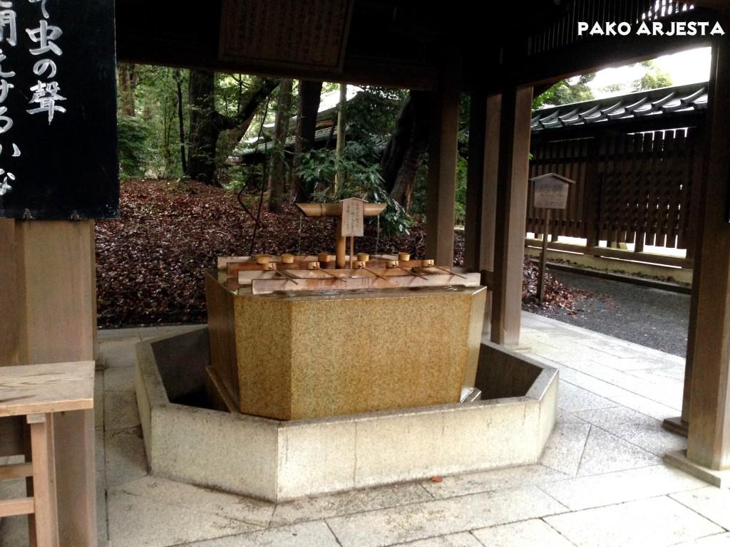 Yoyogi-puiston puhdistautumisalue ennen Meiji Jingua