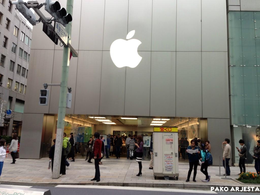 Eikä pidä unohtaa Applen kauppaa tällaisella alueella