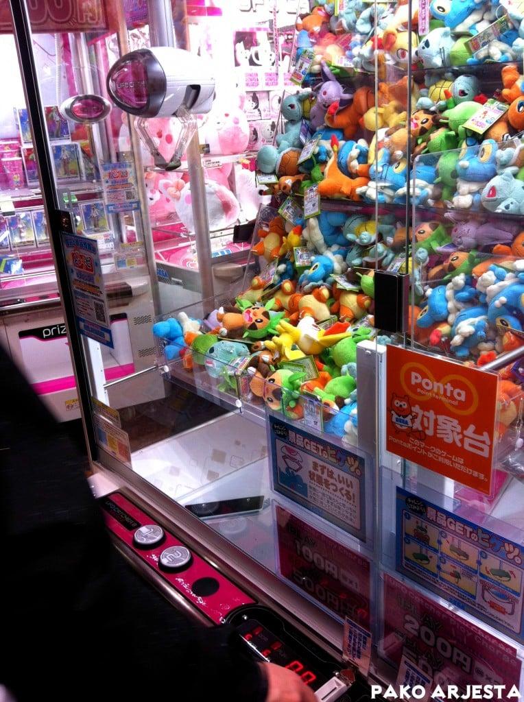 Pelihalli pehmolelukone Akihabara Tokio