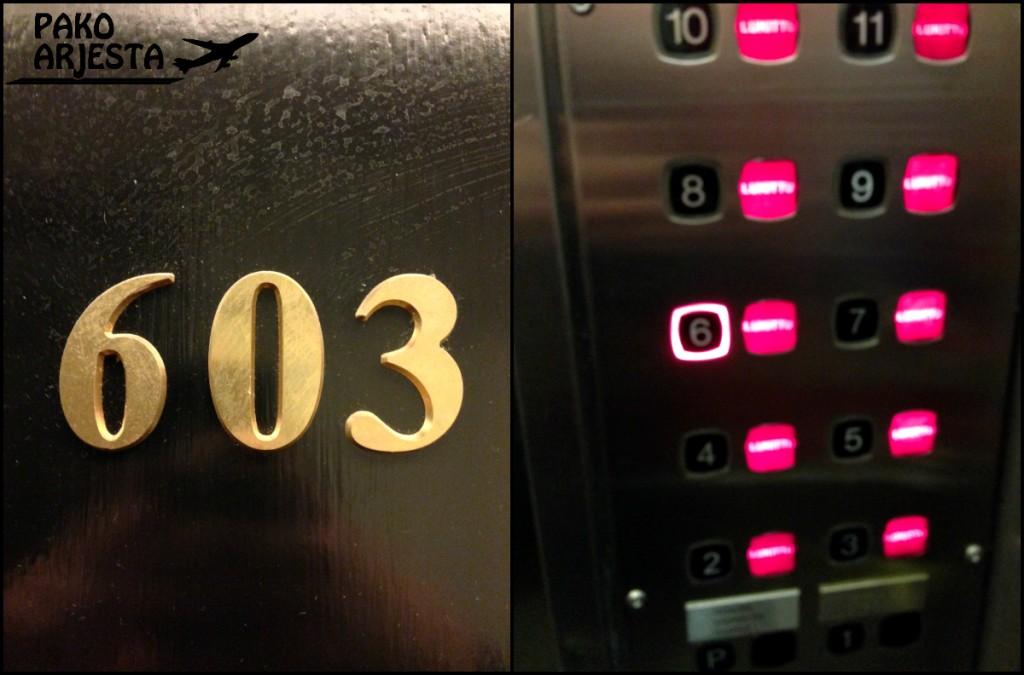 Haluan aina ottaa kuvan hissinappulasta ja huoneen numerosta :)