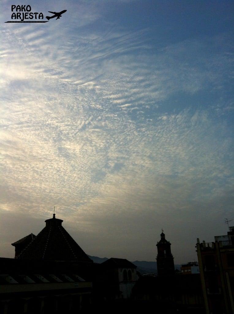 Taivas Málagan yllä