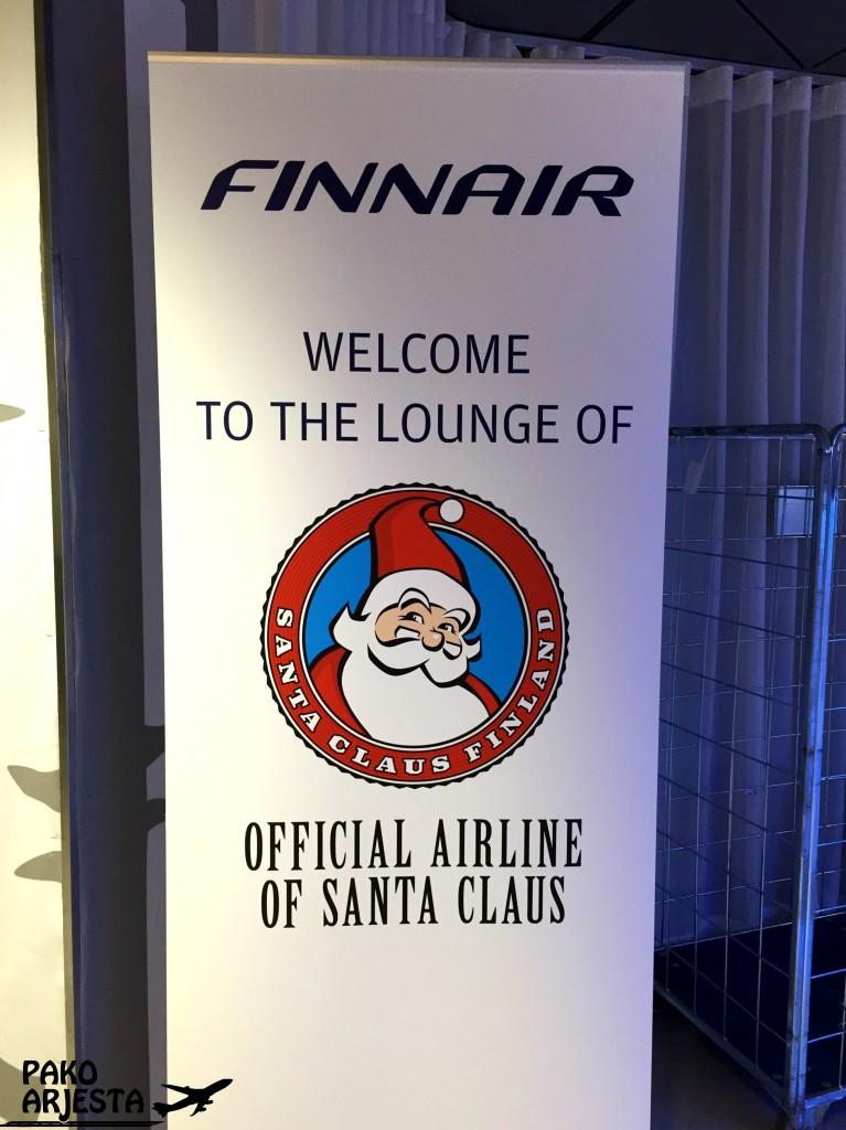 Finnair schengen lounge joulupukki