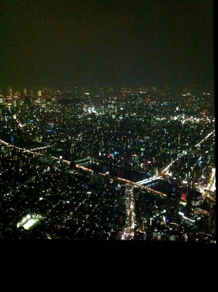 Skytreen ikkunasta otettu kuva
