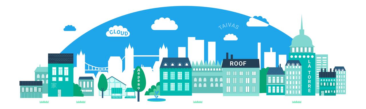 WordDive cityscape