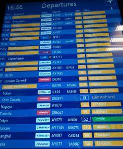 Kuva: lähtevät lennot
