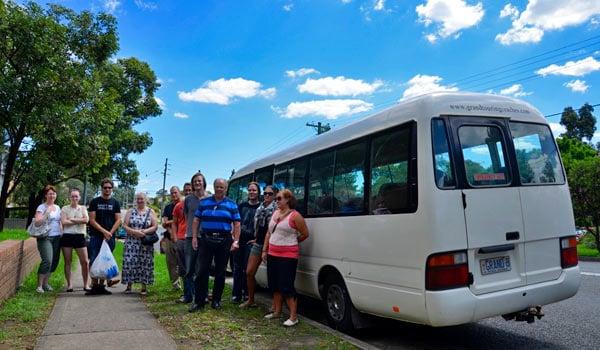 Pikavuoro lähdössä Sydneystä kohti Canberraa