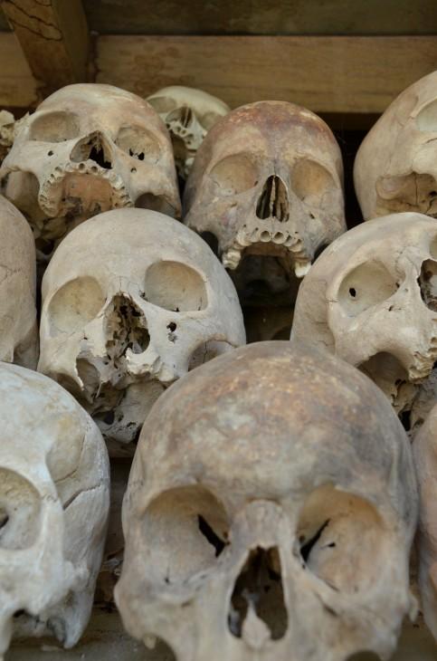 Killing Fieldsin uhrien pääkalloja