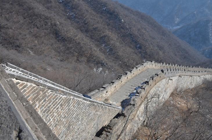 Maisema Kiinan muuri