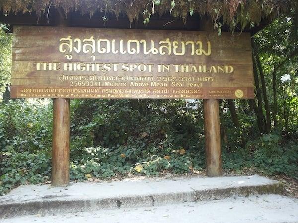 Thaimaan korkein kohta.
