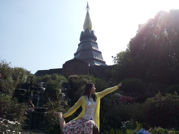Takana Doi Inthanonin temppeli.