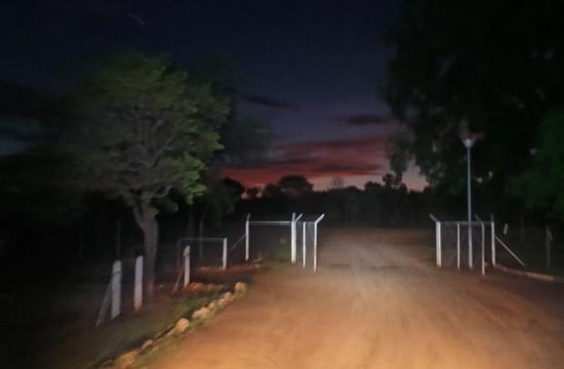 Yöllinen maisema Namibian puolella.