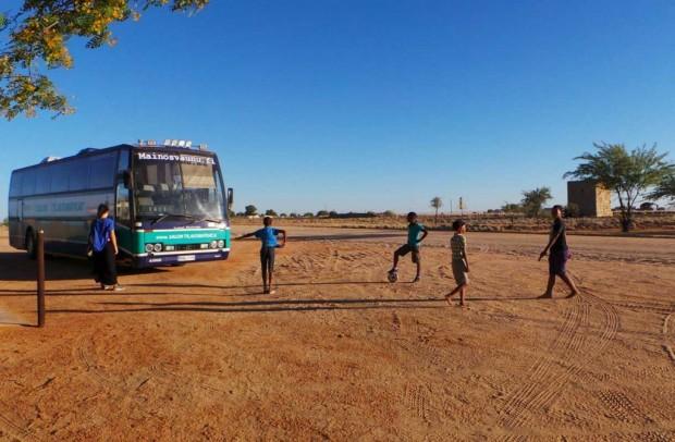 Ajokki seikkaili reilu kuukausi sitten Namibiassa.