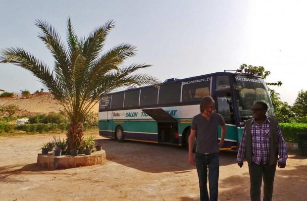 Tuomas ja fikserimme Mohammed aamulla Aswanissa.