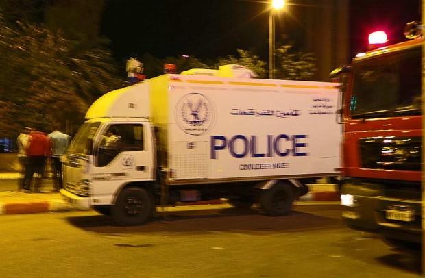 Poliisit eristivät pommi-iskualueen Aswanissa.