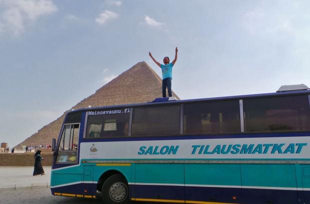 Kippari Laine ajoi kuin ajoikin Kapista Kairoon, vaikka monet reissun onnistumista epäilivät.
