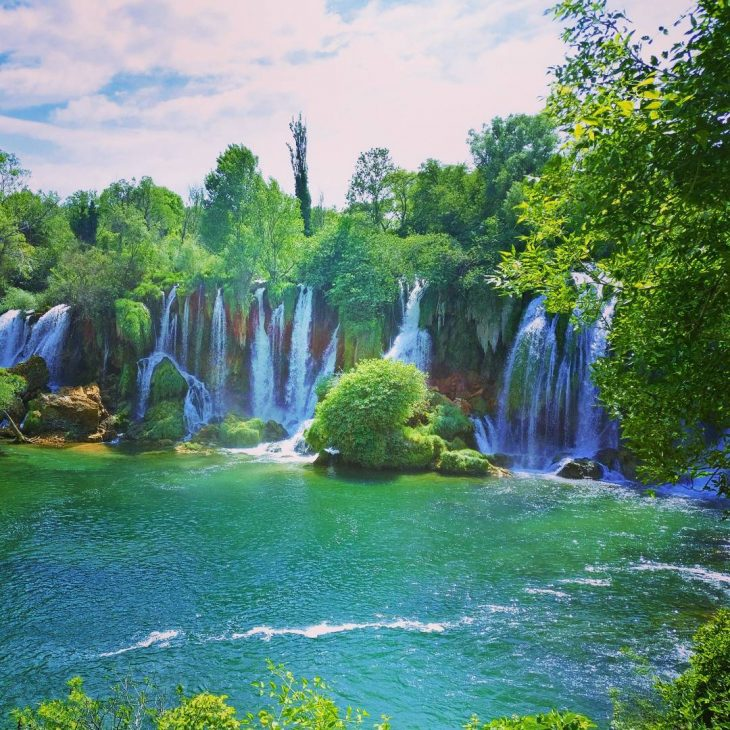 Lovely day for a visit to a waterfall! kravice kravicefallshellip