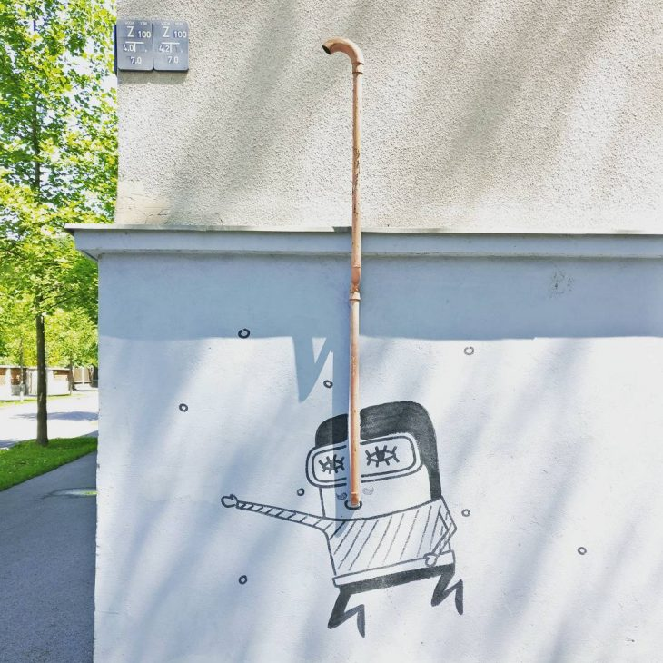 Clever street art in Ljubljana! streetart ljubljana visitljubljana slovenia instatravelhellip