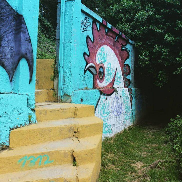 Awesome graffiti park in Zagreb! zagreb croatia graffitipark streetart graffitihellip