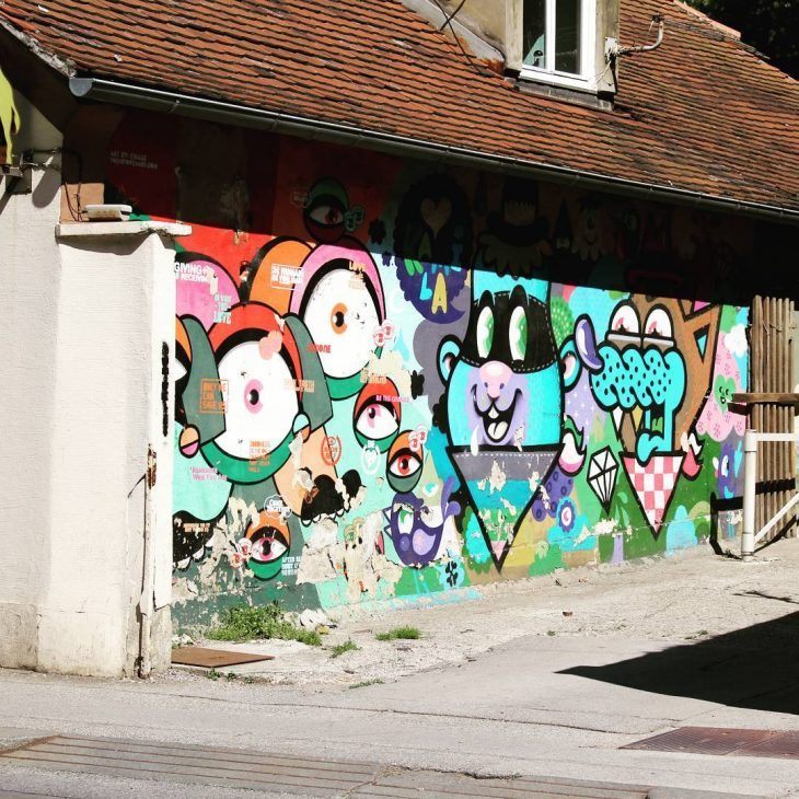 Cute piece of street art in Zagreb