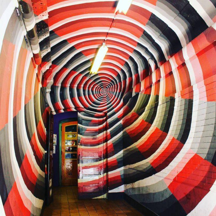 Entrance to a club in metelkovamesto ljubljana psychedelic psychedelicart graffitihellip