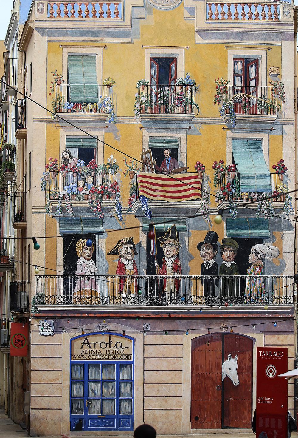 Tarragona talon seinämaalaus