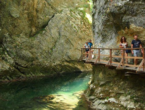 Bled-järvi ja Vintgarin rotko