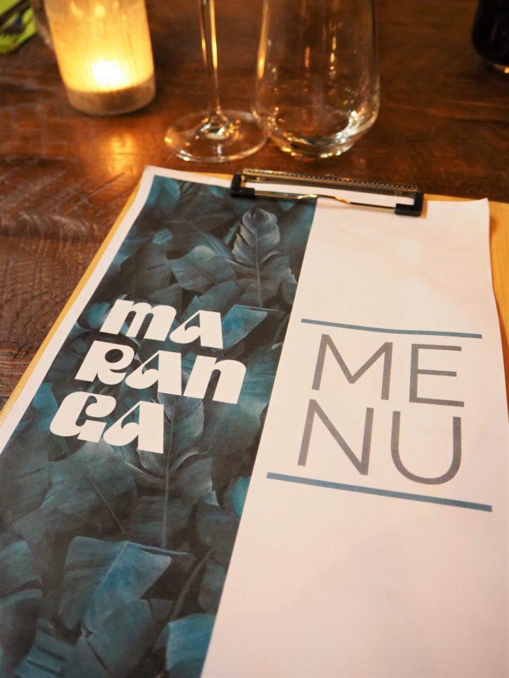 maranga menu