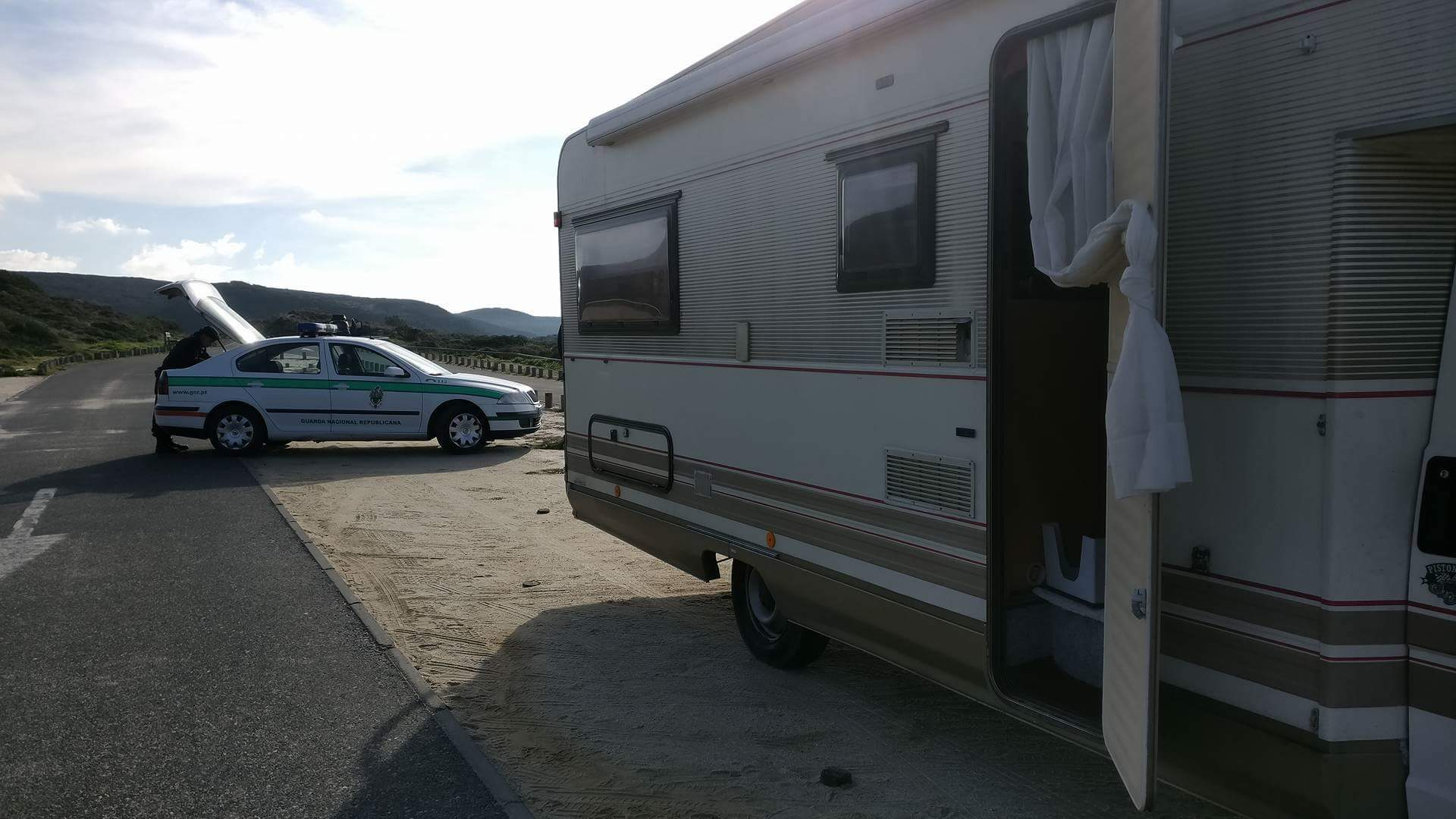 Portugal police ticket no camping