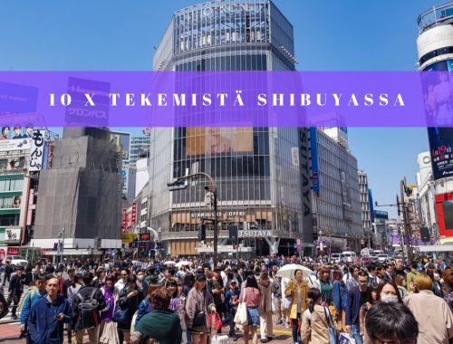 Shibuyan vilkas risteys Tokiossa taynna ihmisia