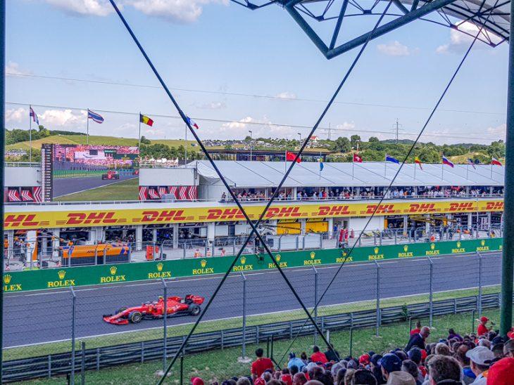 formula 1 auto unkarin hungaroring kilpailussa
