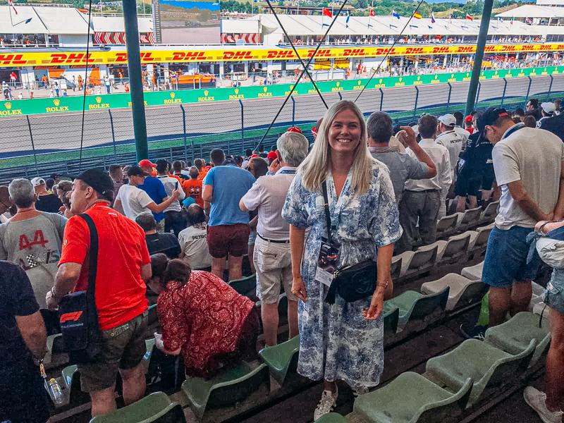 Hungaroring F1 kilpailun katsomossa