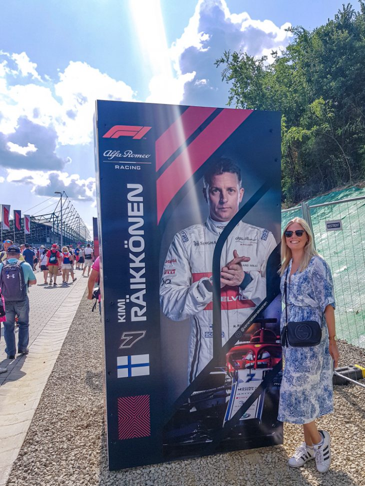 Kimi Räikkönen mainos Hungaroringin radalla