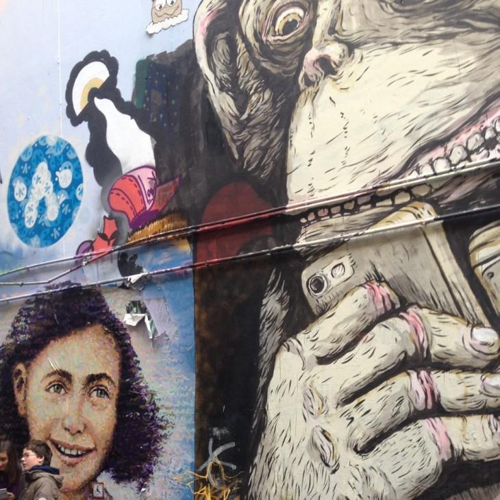 Anne Frank Berliiniläisseinällä