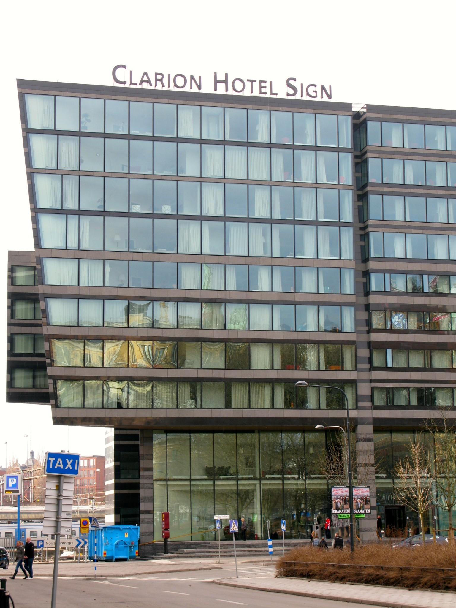 Clarion Hotel Sign Tukholma