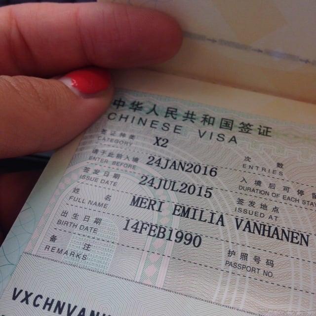 Kiina viisumi