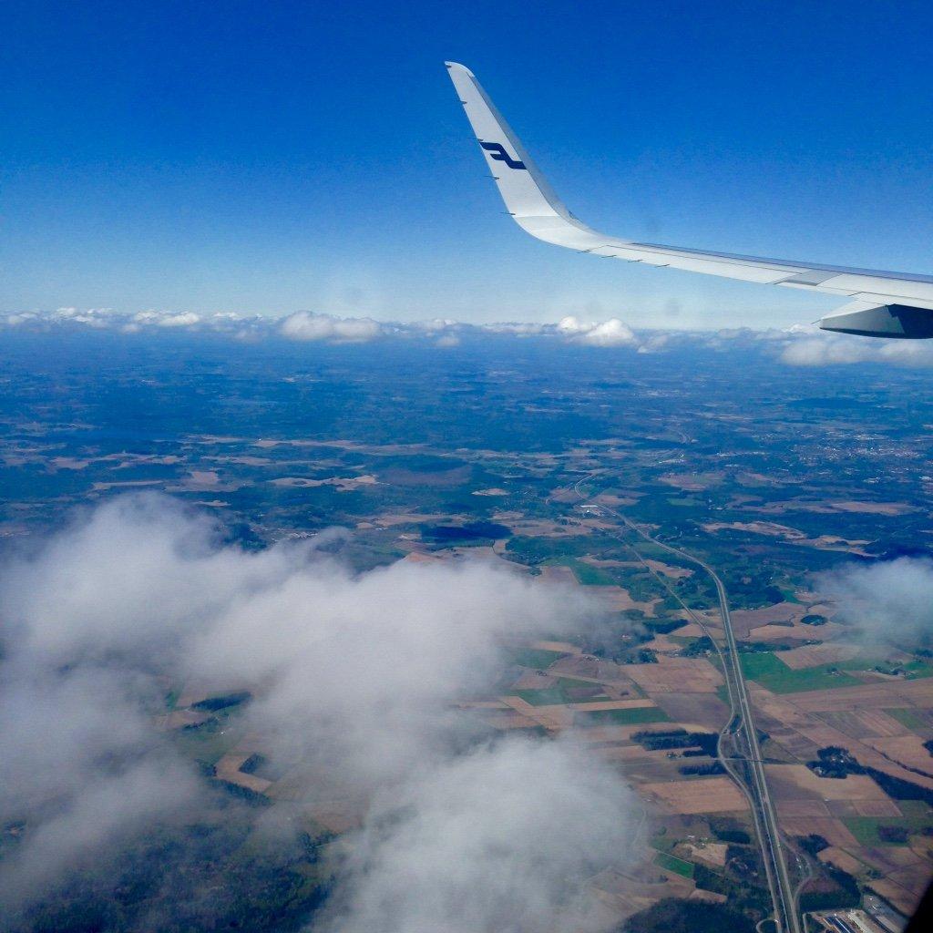 Finnair plane wing