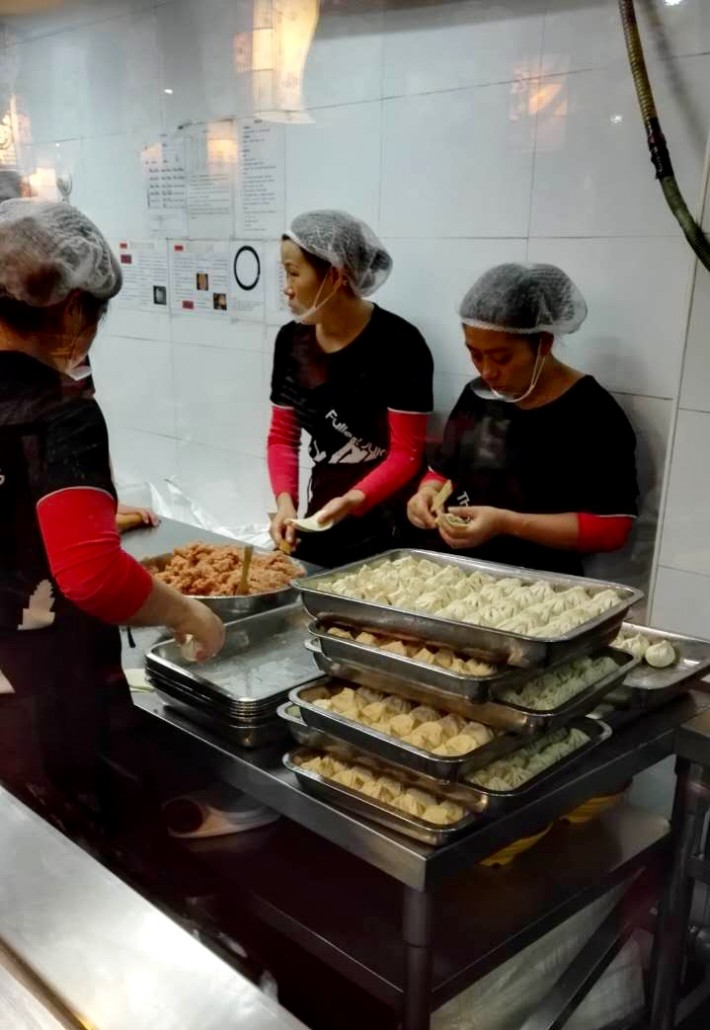 making of dumplings