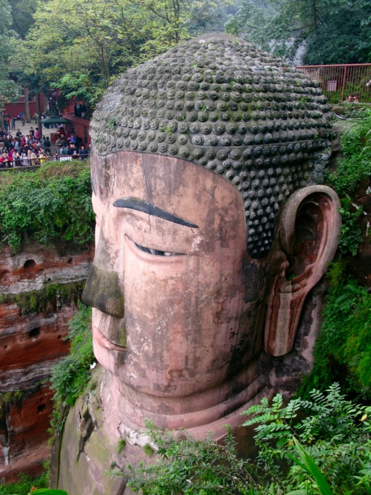 Lehan Giant buddha head