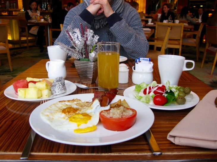 Shanghai Yu Garden Marriott Hotel breakfast