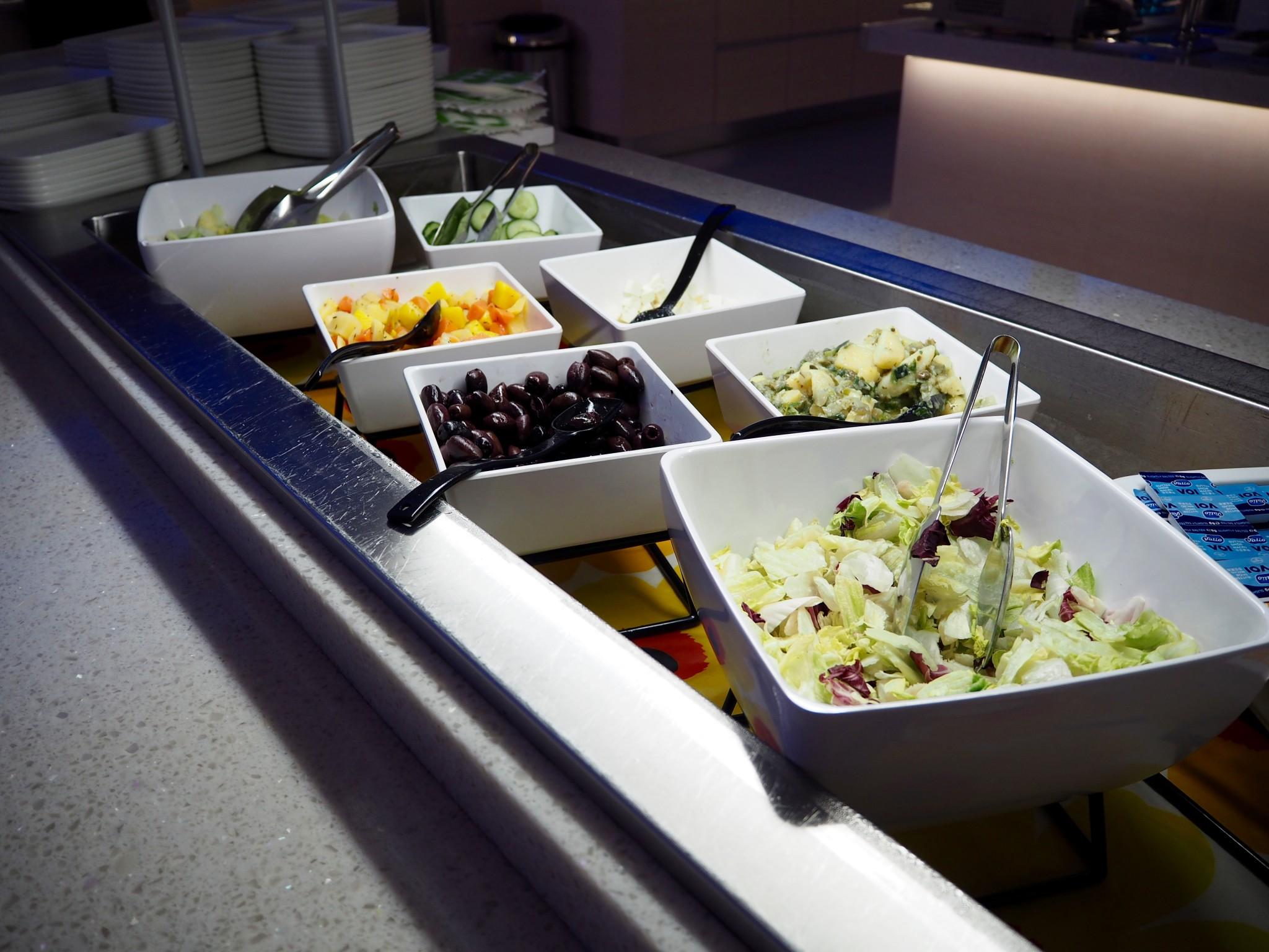 Finnair lounge ruoka
