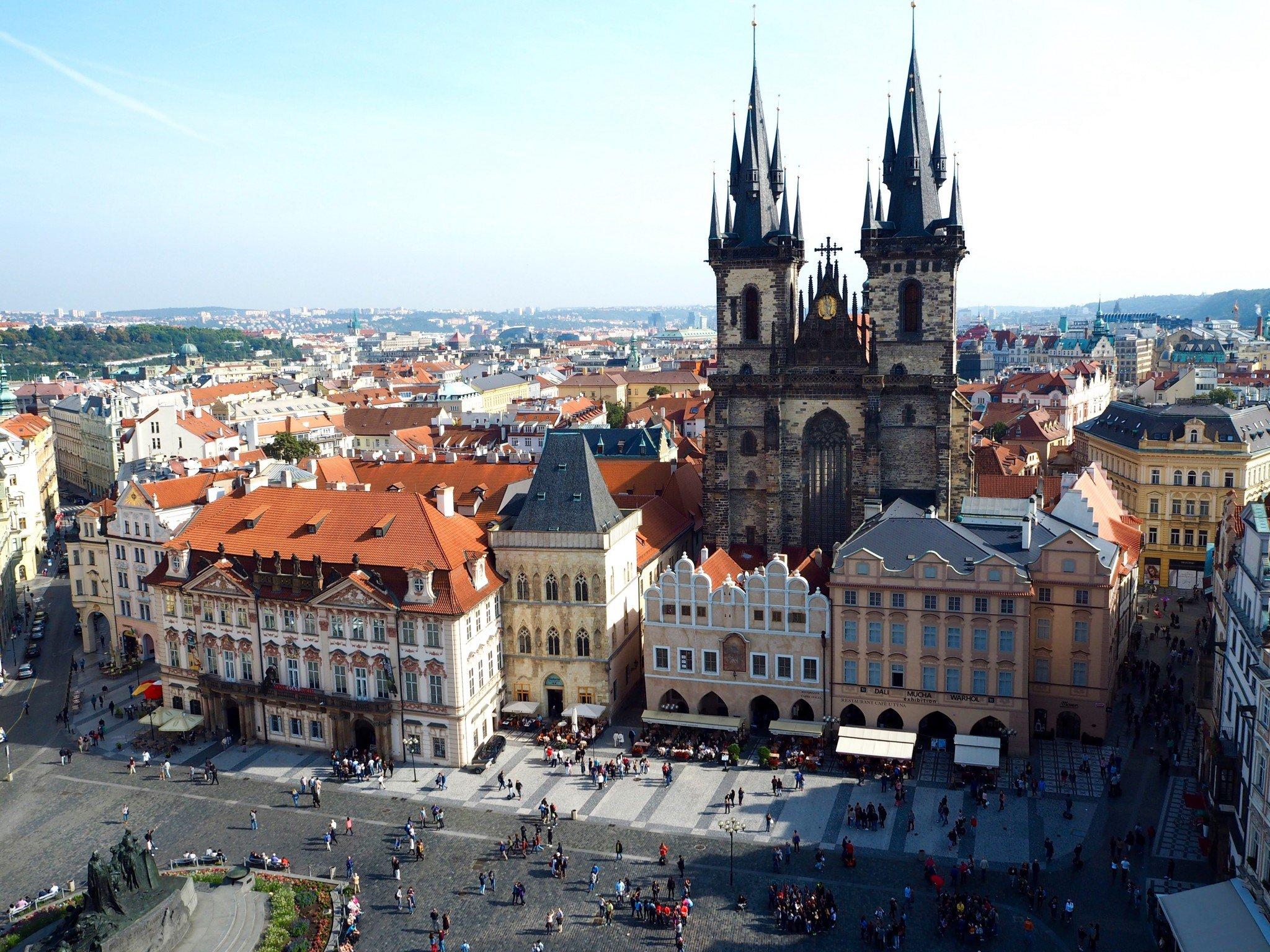 Prahan vanha kaupunki: raatihuoneen torni