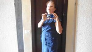 Sininen puuvillainen g-Star-mekko