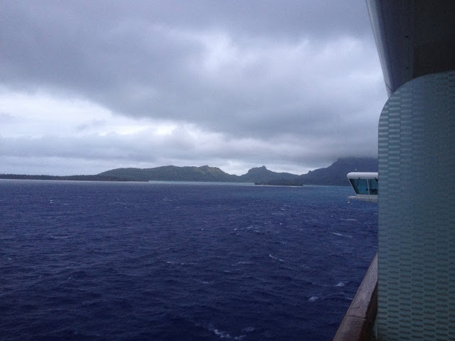 Bora Bora rainy day