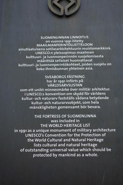 Maailmanperintökohteet Suomenlinna