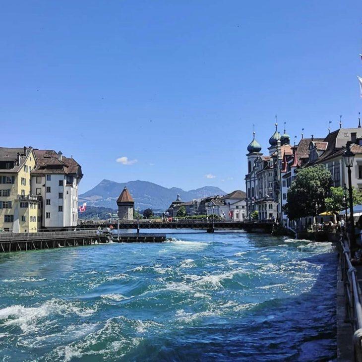 Kesäpäivä Luzernissa budjettimatkaillen