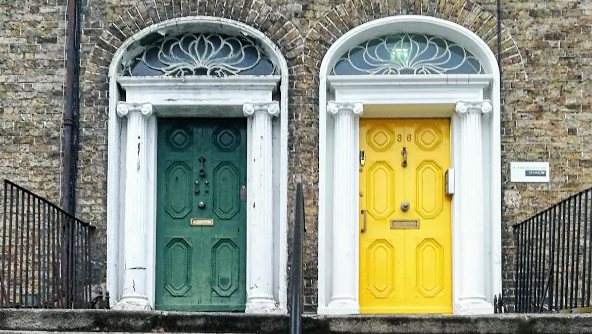 dublin värikkäät ovet