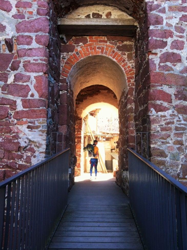 Kastelholman linnan sisäänkäynti