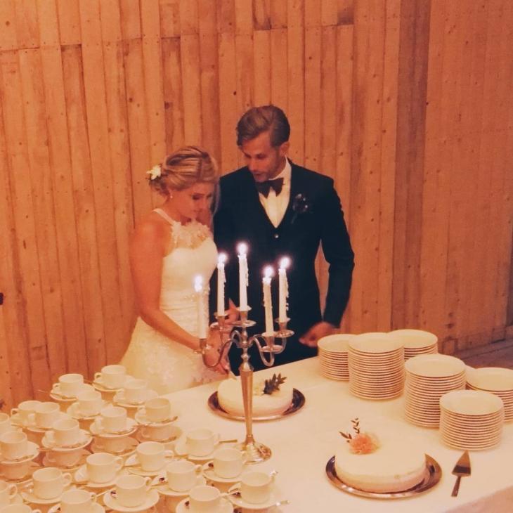 Congrats Ilkka amp Paulina rakkauspahkinat rakkaus kesht wedding cake kakkuhellip
